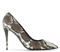 Natural python print leather d ANNETTE