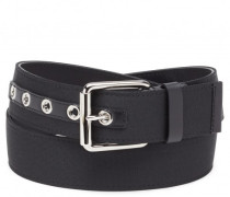 Black fabric belt SIDNEY