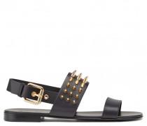 Black calf sandal with studs ZAK