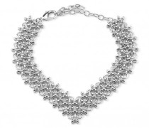 Silver brass necklace BIANCA