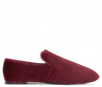 Burgundy fur loafer PAIGE WINTER
