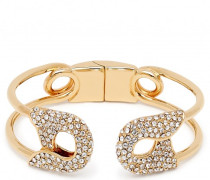 Gold brass metal bracelet with crystals SIAN