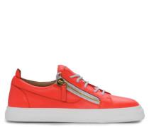 Orange leather low-top sneakers NICKI