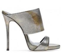 Bronze lamineted slip-on mule ANDREA
