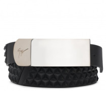 3D calfskin leather belt LANE