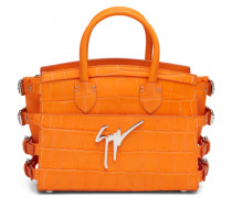 Orange calf leather handbag G#17