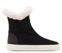 Black suede boot with faux fur inside MACIE