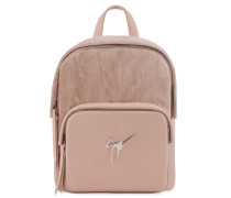 Velvet and leather backpack with signature CECIL VELVET