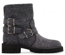 Black velvet boot with glitter finishing MAUDE