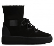 Black suede high-top sneaker ALLEN HIGH