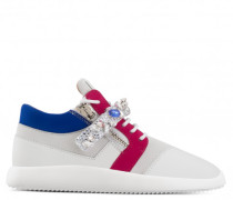 Multicolor calfskin 'runner' sneaker with crystals DONA