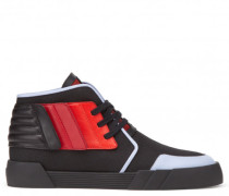 Multicolor fabric high-top sneaker THE SHARK 2.0