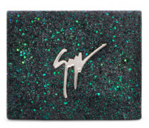 165x125 mm multicolor glitter fabric clutch MERRY SPARKLE