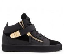 Black suede mid-top sneaker CARTER
