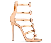 Patent leather sandal with six straps MICOL