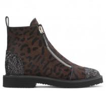 Leopard calf hair boot with zips KAT
