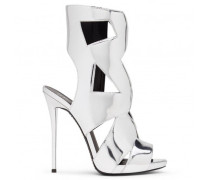 Silver patent leather boot ELLE