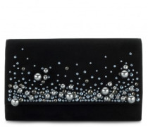 Suede clutch with crystals VANESSA