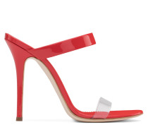 Plexi and patent leather mule NEW DARSEY