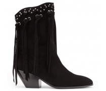 Calfskin leather boot with fringes DEMI