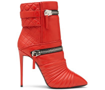 Red leather boot DEMI