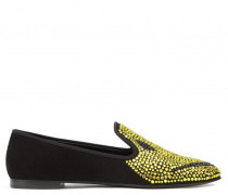 Black suede loafer with embroideries SMILEY®®
