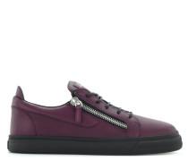 Purple calfskin leather low-top sneaker FRANKIE