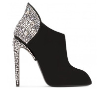 Giuseppe for Jennifer Lopez: black suede boot with crystals GERTIE