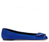 Blue suede 'Cruel' ballerina flat CRUEL