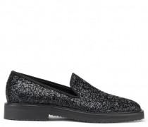 Fabric loafer with black glitter finishing GIUSEPPE GLITTER