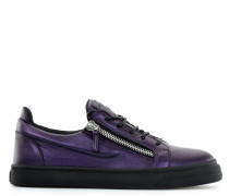 Laminated leather low-top sneaker FRANKIE