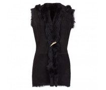 Black shearling vest RUBY