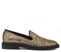Fabric loafer with gold glitter finishing GIUSEPPE GLITTER