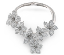 Metal necklace with crystal flowers BOUQUET