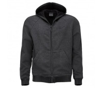 Gray fabric jacket with hood PETE