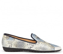 Python-embossed calf leather loafer GIUSEPPE