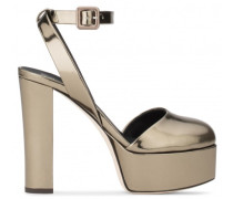 Dark grey patent leather 'Betty' sandal with platform BETTY
