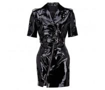 Black naplak leather vest ISABELLE