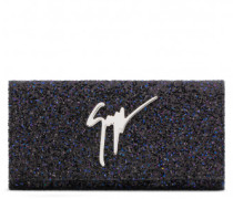220x110 mm black glitter fabric clutch CLEOPATRA SPARKLE