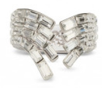 Baguette crystal brass ring VERA