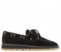 Black suede loafer ALTON