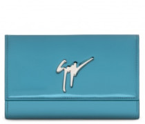 Green patent leather clutch CLEOPATRA