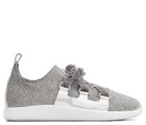 Silver glitter fabric 'runner' sneaker MAGGIE