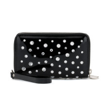 Patent leather wallet with crystals MATHILDE