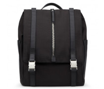 Black fabric backpack ISAAC