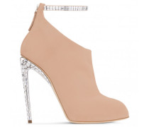 Giuseppe for Jennifer Lopez: pink suede boot with crystals PUCHI