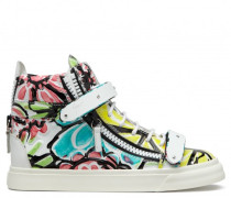 Multicolor printed high-top sneaker CHROMATIC
