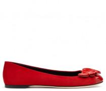 Red suede 'Cruel' ballerina flat CRUEL