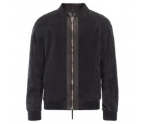 Black lambskin mesh jacket STEPHEN