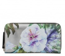 Shooting wallet with printed flowers SPRING